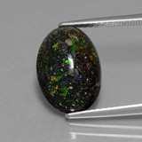 thumb image of 4.4ct Oval Cabochon Multicolor Opal in Matrix (ID: 441960)