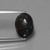 thumb image of 2.1ct Oval Cabochon Multicolor Opal in Matrix (ID: 442008)