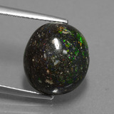 thumb image of 6.3ct Oval Cabochon Multicolor Opal in Matrix (ID: 442048)