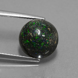 thumb image of 4.9ct Round Cabochon Multicolor Opal in Matrix (ID: 442056)