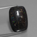 thumb image of 6.9ct Cushion Cabochon Multicolor Opal in Matrix (ID: 442121)