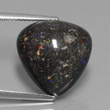 thumb image of 10.4ct Pear Cabochon Multicolor Opal in Matrix (ID: 442128)