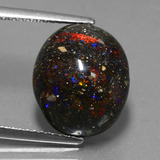 thumb image of 7.1ct Oval Cabochon Multicolor Opal in Matrix (ID: 442187)