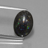 thumb image of 2.7ct Oval Cabochon Multicolor Opal in Matrix (ID: 442324)