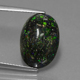 thumb image of 6.4ct Oval Cabochon Multicolor Opal in Matrix (ID: 442387)