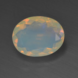 thumb image of 1.6ct Oval Facet Multicolor Opal (ID: 311842)