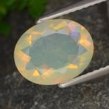 thumb image of 1.3ct Oval Facet Multicolor Opal (ID: 315322)