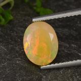 thumb image of 1.5ct Oval Facet Multicolor Opal (ID: 321236)