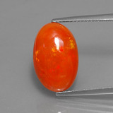 thumb image of 5.3ct Oval Cabochon Orange Opal (ID: 353619)