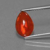 thumb image of 1.2ct Pear Cabochon Orange Opal (ID: 369090)