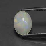 thumb image of 0.7ct Oval Cabochon White Opal (ID: 429183)