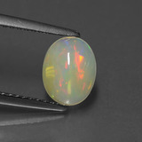 thumb image of 0.7ct Oval Cabochon White Opal (ID: 429261)