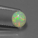thumb image of 0.5ct Oval Cabochon Multicolor Opal (ID: 432234)