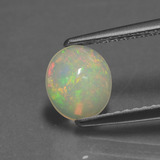 thumb image of 0.7ct Oval Cabochon Multicolor Opal (ID: 432290)