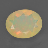 thumb image of 1.3ct Oval Facet Multicolor Opal (ID: 461602)