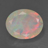 thumb image of 1.7ct Oval Facet Multicolor Opal (ID: 461603)