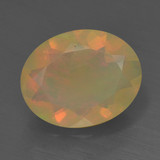 thumb image of 1.3ct Oval Facet Multicolor Opal (ID: 461604)
