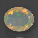 thumb image of 2ct Oval Facet Multicolor Opal (ID: 461607)