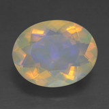 thumb image of 1.7ct Oval Facet Multicolor Opal (ID: 461641)