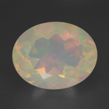 thumb image of 2ct Oval Facet Multicolor Opal (ID: 461642)
