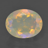 thumb image of 1.6ct Oval Facet Multicolor Opal (ID: 461739)