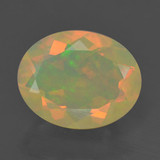 thumb image of 1.5ct Oval Facet Multicolor Opal (ID: 461741)