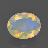 thumb image of 1.4ct Oval Facet Multicolor Opal (ID: 461765)