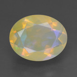 thumb image of 1.6ct Oval Facet Multicolor Opal (ID: 461789)