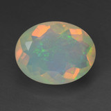thumb image of 1.3ct Oval Facet Multicolor Opal (ID: 461821)