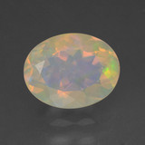 thumb image of 1.2ct Oval Facet Multicolor Opal (ID: 461825)