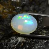 11.89 ct Oval Cabochon Multicolor Opal Gem 17.74 mm x 13.7 mm (Photo B)