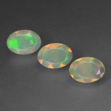 thumb image of 1ct Oval Facet Multicolor Opal (ID: 462630)