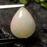 thumb image of 1.5ct Pear Cabochon White Opal (ID: 490495)