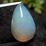 thumb image of 1.7ct Pear Cabochon Cool White Opal (ID: 490650)