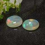 1.65 ct Ovale cabochon Multicolore Opale Gem 10.02 mm x 7.9 mm (Photo B)