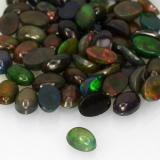0.32 ct Oval Cabochon Multicolor Opal Gem 6.23 mm x 4.1 mm (Photo B)