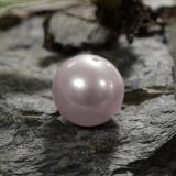 thumb image of 3.1ct Drilled Sphere Pinkish Silver Pearl (ID: 325326)