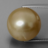 thumb image of 14ct Spherical Golden Pearl (ID: 335847)