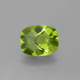 thumb image of 2.5ct Cushion Checkerboard Lively Green Peridot (ID: 334357)