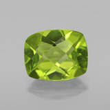 thumb image of 2.8ct Cushion Checkerboard Lively Green Peridot (ID: 334418)