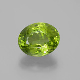 thumb image of 6ct Oval Portuguese-Cut Lively Green Peridot (ID: 379056)