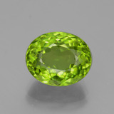 thumb image of 5.8ct Oval Portuguese-Cut Lively Green Peridot (ID: 379057)