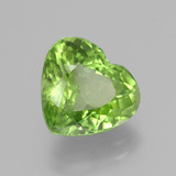 4.15 ct Heart Facet Lively Green Peridot Gem 10.39 mm x 9.4 mm (Photo B)