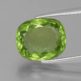 thumb image of 4.2ct Cushion-Cut Lively Green Peridot (ID: 398225)