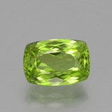 thumb image of 3.8ct Cushion-Cut Lively Green Peridot (ID: 398306)