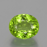 thumb image of 5.1ct Oval Portuguese-Cut Lively Green Peridot (ID: 398343)