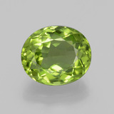 thumb image of 4.2ct Oval Facet Lively Green Peridot (ID: 398398)