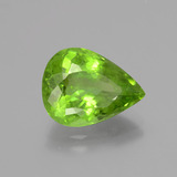 6.10 ct Pear Facet Lively Green Peridot Gem 13.87 mm x 10.5 mm (Photo B)