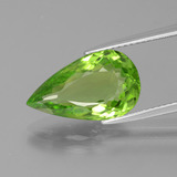 thumb image of 5.8ct Pear Facet Lively Green Peridot (ID: 399116)