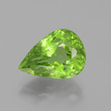 thumb image of 6ct Pear Facet Lively Green Peridot (ID: 399117)